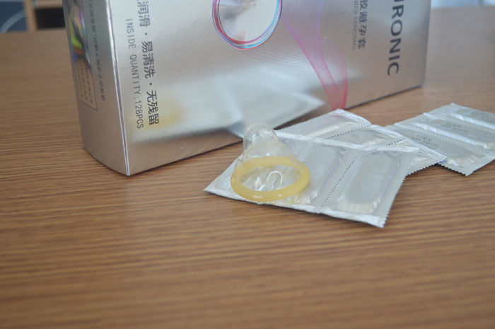 Smooth Plain Male Latex Condom With Extensions For Her Pleasure Long Time