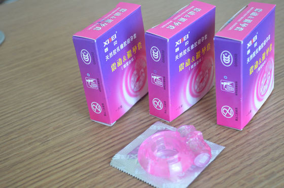 China Adult Product Female Vibrating Condom Male Cock Ring for Delay Ejaculation distributor