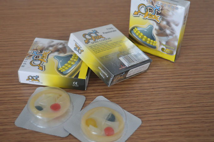 Dig Dotted Condom With Spikes , Extra Sensitive Long Lasting Condoms Natural Latex